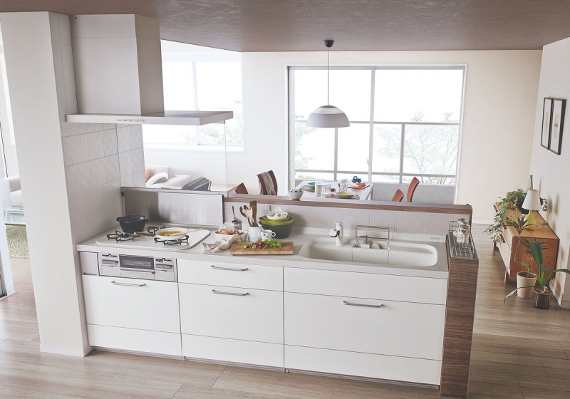 対面式のキッチンにリフォーム